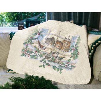 """03231 • Набор для вышивания одеяла крестом """"Три наблюдателя"""" • """"Three Bird Watchers Quilt"""""""