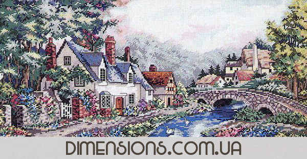 3753 Набор для вышивки крестом «Долина реки Бек» • «Valley of the River Beck» DIMENSIONS Gold Collection