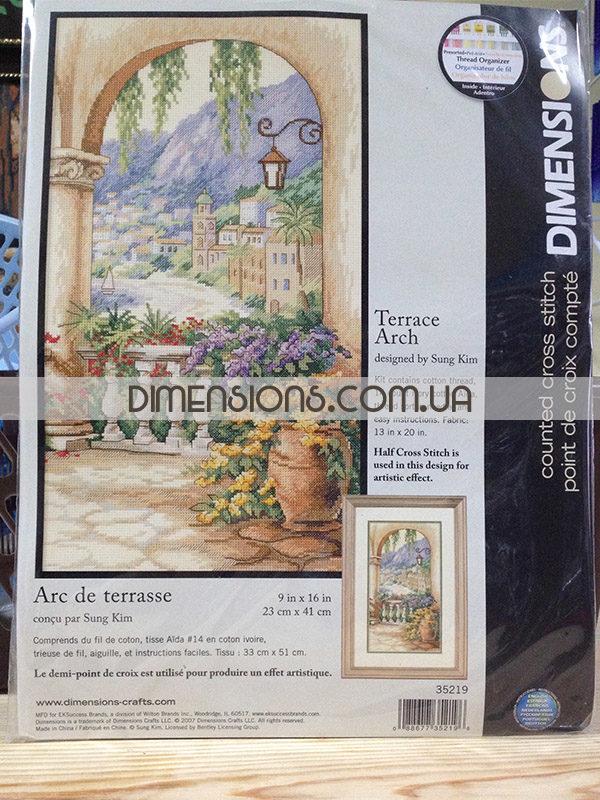 35219 Набор для вышивания крестом «Арка на террасе» • «Terrace Arch» DIMENSIONS - упаковка