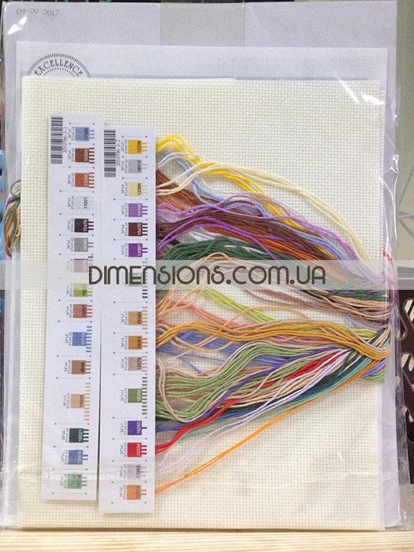 35219 Набор для вышивания крестом «Арка на террасе» • «Terrace Arch» DIMENSIONS - упаковка, мулине