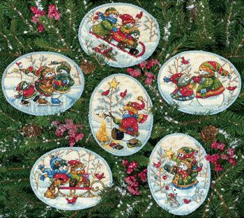 8828-igraushie_snegoviki-dimensions-playful-snowmen-ornaments