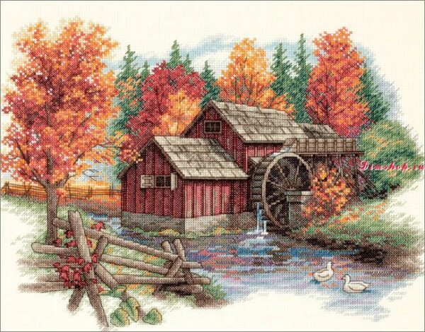 """35199 • Набор для вышивания крестом """"Великолепие осени"""" • """"Glory of Autumn"""" DIMENSIONS"""