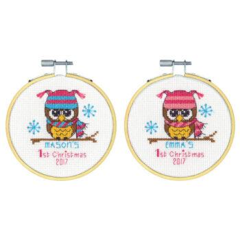 """70-08965 Набор для вышивки крестом """"Первое Рождество"""" • """"Baby's First Christmas"""" DIMENSIONS"""