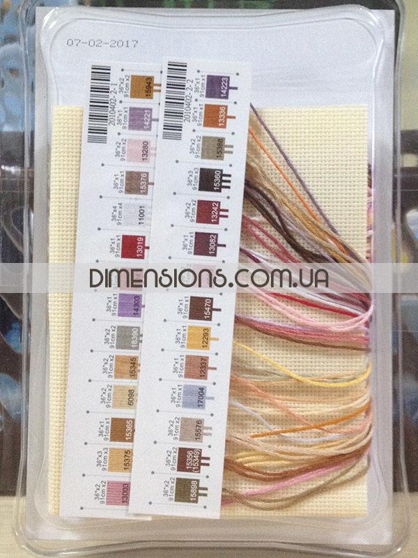 65035 Набор для вышивания крестом «Морские сокровища» • «Seashell Treasures» DIMENSIONS Gold Collection Petites - упаковка