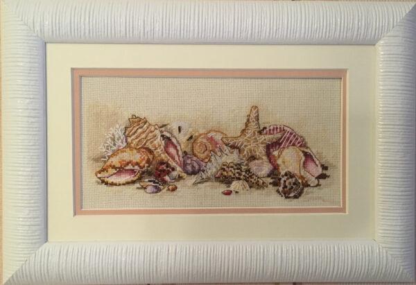 65035 Набор для вышивки крестом «Морские сокровища» • «Seashell Treasures» DIMENSIONS Gold Collection Petites
