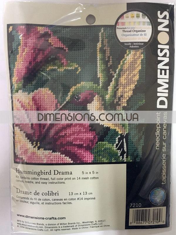 "07210 Набор для вышивания - гобелен ""Колибри"" • ""Hummingbird Drama"" DIMENSIONS"