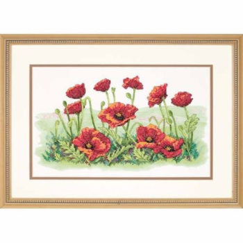 """03237 • Набор для вышивания крестом """"Поле маков"""" • """"Field of Poppies"""" DIMENSIONS"""
