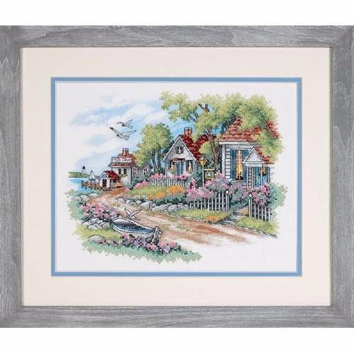 3240 Набор для вышивки крестом «Коттеджи на берегу моря» • «Cottages by the Sea» DIMENSIONS