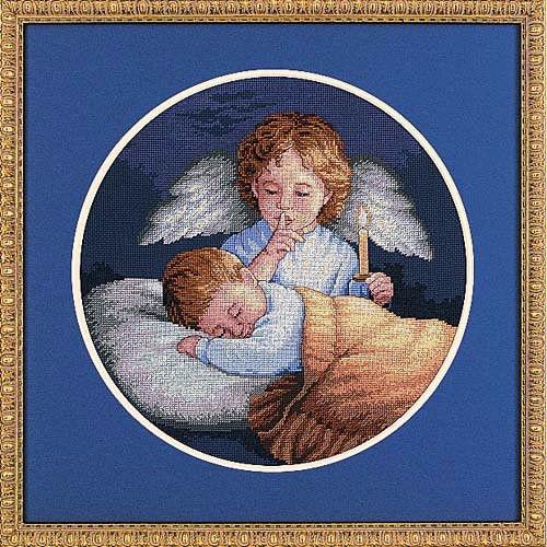 """03873 • Набор для вышивания крестом """"Ангел-Хранитель"""" • """"Angelic Guardian"""" DIMENSIONS"""