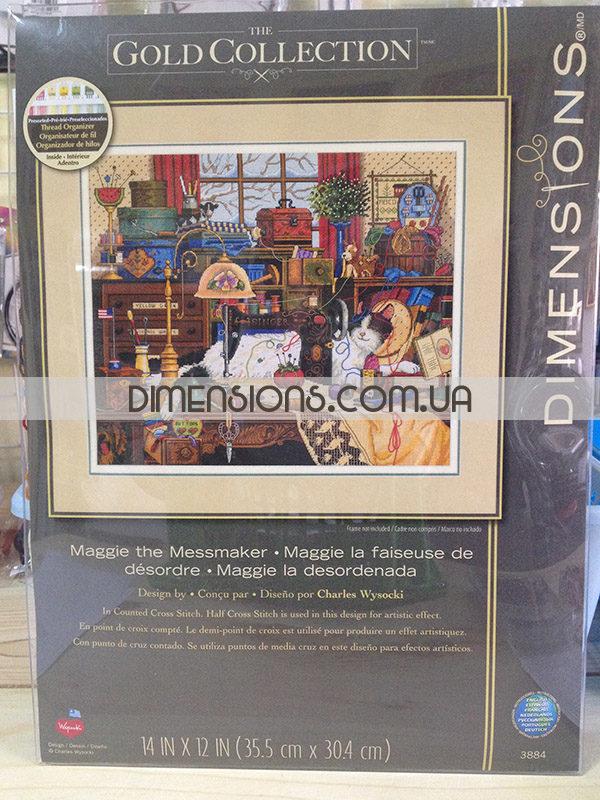 03884 Набор для вышивания крестом Мэгги-рукодельница Maggie the Messmaker DIMENSIONS Gold Collection