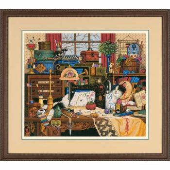 """03884 • Набор для вышивания крестом """"Мэгги-рукодельница"""" • """"Maggie the Messmaker"""" DIMENSIONS Gold Collection"""