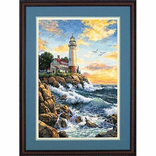 """03895 • Набор для вышивания крестом """"Скалистый берег"""" • """"Rocky Point"""" DIMENSIONS Gold Collection"""
