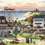 """03896 • Набор для вышивания крестом """"Уютное укрытие"""" • """"Cozy Cove"""" DIMENSIONS Gold Collection"""
