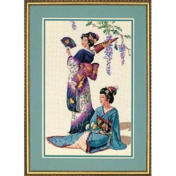 """03898 • Набор для вышивания крестом """"Жемчужины востока"""" • """"Jewels of the Orient"""" DIMENSIONS Gold Collection"""