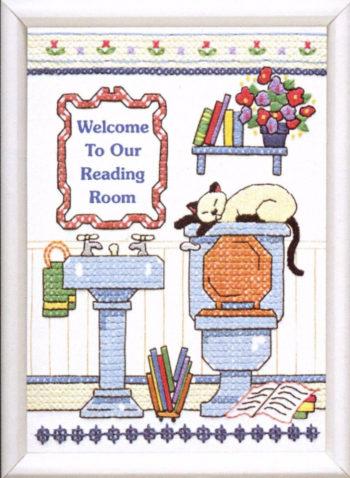 """06627 • Набор для вышивания крестом """"Читальный зал"""" • """"Reading Room Welcome"""" DIMENSIONS"""