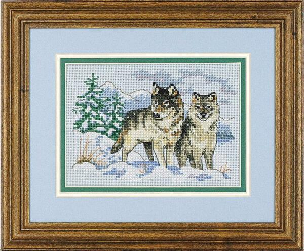 """06800 • Набор для вышивания крестом """"Пара волков"""" • """"A Pair of Wolves"""" DIMENSIONS"""