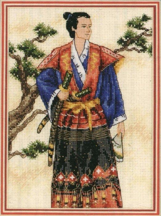 """06813 • Набор для вышивания крестом """"Самурай"""" • """"The Samurai"""" DIMENSIONS"""