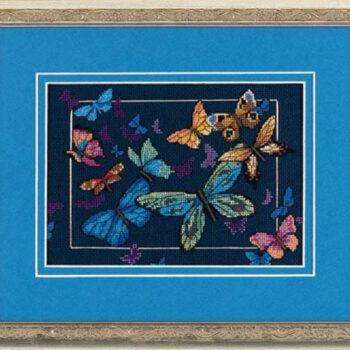 """06846 • Набор для вышивания крестом """"Экзотические бабочки"""" • """"Exotic Butterflies"""" DIMENSIONS"""