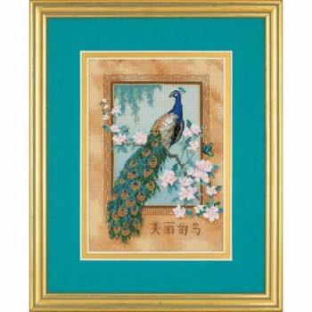 """06870 • Набор для вышивания крестом """"Красивая птица"""" • """"Beautiful Bird"""" DIMENSIONS"""