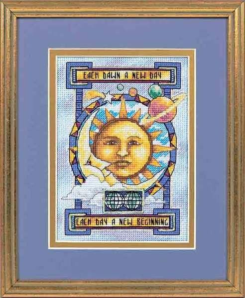 """06905 • Набор для вышивания крестом """"Новый день"""" • """"A New Day"""" DIMENSIONS"""