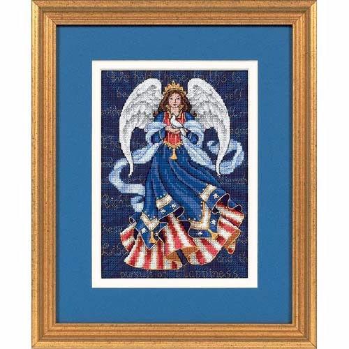 """06911 • Набор для вышивания крестом """"Патриотический ангел"""" • """"Patriotic Angel"""" DIMENSIONS"""