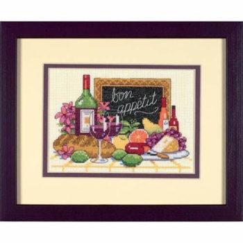 """06915 • Набор для вышивания крестом """"Приятного аппетита"""" • """"Bon Appétit"""" DIMENSIONS"""