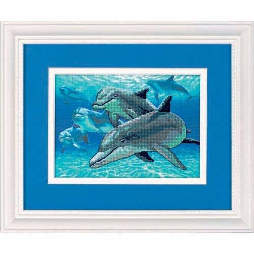 6944 Набор для вышивки крестом «Дельфины глубокого моря» • «Deep Sea Dolphins» DIMENSIONS