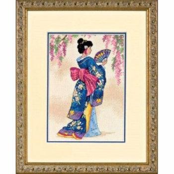 """06953 • Набор для вышивания крестом """"Элегантная Гейша"""" • """"Elegant Geisha"""" DIMENSIONS"""