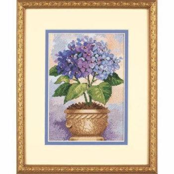 """06959 • Набор для вышивания крестом """"Гортензия в цвету"""" • """"Hydrangea in Bloom"""" DIMENSIONS"""