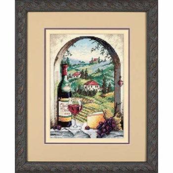 """06972 • Набор для вышивания крестом """"Мечтая о Тоскане"""" • """"Dreaming of Tuscany"""" DIMENSIONS Gold Collection"""