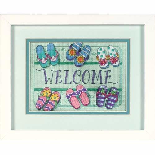 6978 Набор для вышивки крестом «Добро пожаловать! Коврик» • «Welcome Mat» DIMENSIONS