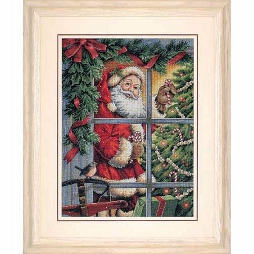 8734 Набор для вышивки крестом «Конфеты от Санты» • «Candy Cane Santa» DIMENSIONS