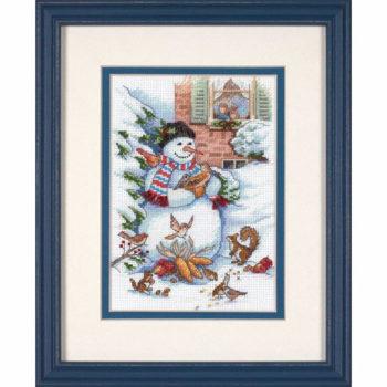 """08801 • Набор для вышивания крестом """"Снеговик и друзья"""" • """"Snowman & Friends"""" DIMENSIONS"""