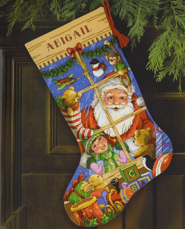 8818 Набор для вышивки крестом «Игрушки Санты. Чулок» • «Santa's Toys Stocking» DIMENSIONS Gold Collection