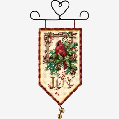 """08822 • Набор для вышивания крестом """"Радость птички-кардинала"""" • """"Cardinal Joy"""" DIMENSIONS"""