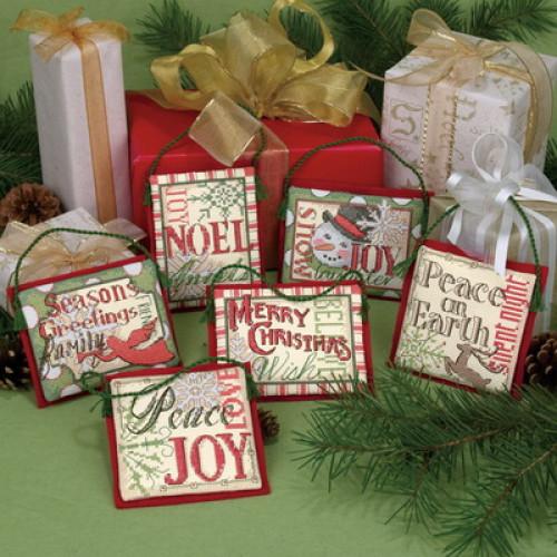 """08827 • Набор для вышивания крестом """"Рождественские украшения. Поговорки"""" • """"Christmas Sayings Ornaments"""""""