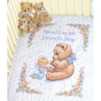 """13088 • Набор для вышивания одеяла крестом """"Милая молитва"""" • """"Sweet Prayer Quilt"""" DIMENSIONS"""
