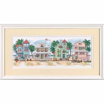 """13726 • Набор для вышивания крестом """"Коттеджи у моря"""" • """"Seaside Cottages"""" DIMENSIONS"""