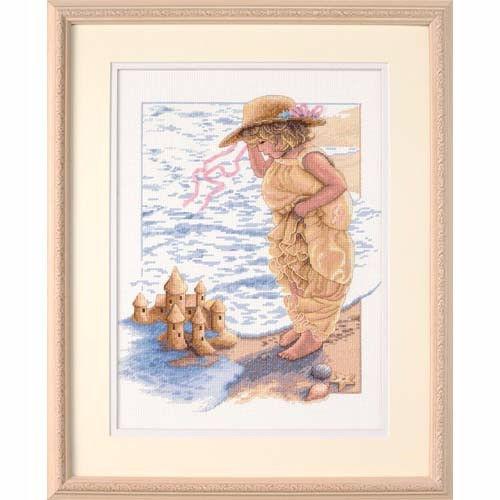 """13730 • Набор для вышивания крестом """"Замок из песка"""" • """"Sandcastle Dreams"""" DIMENSIONS"""