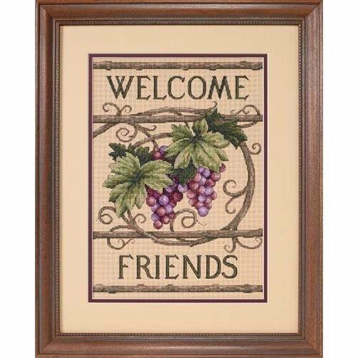 13733 Набор для вышивки крестом «Добро пожаловать, друзья» • «Welcome Friends» DIMENSIONS