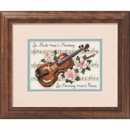 """16656 • Набор для вышивания крестом """"Гармония музыки"""" • """"Music is Harmony"""" DIMENSIONS"""
