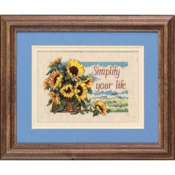 """16689 • Набор для вышивания крестом """"Живите проще.."""" • """"Simplify Your Life"""" DIMENSIONS"""