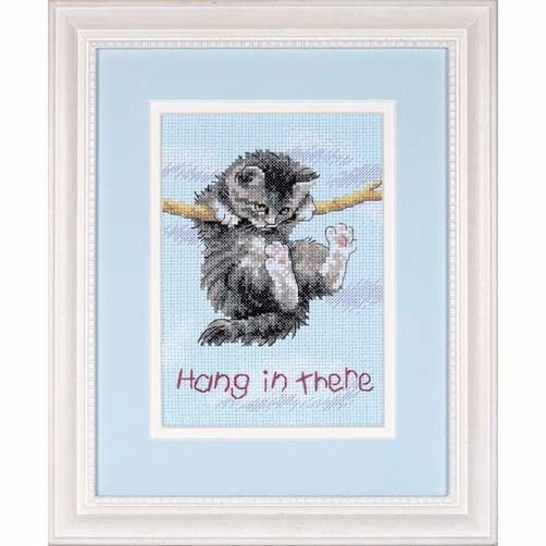 16734 Набор для вышивки крестом «Держись, котик» • «Hang on Kitty» DIMENSIONS