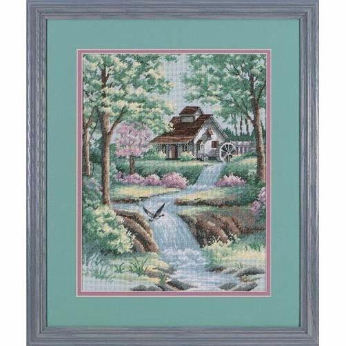 """35027 • Набор для вышивания крестом """"Умиротворяющий поток"""" • """"Peaceful Stream"""" DIMENSIONS"""