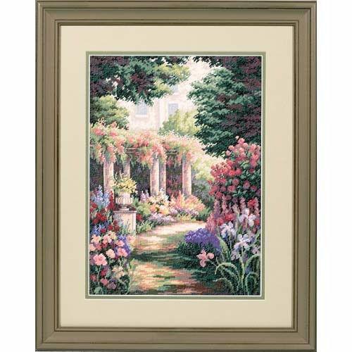 35079 Набор для вышивки крестом «Уединение в цветах» • «Floral Retreat» DIMENSIONS Gold Collection
