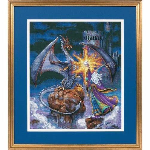 """35080 • Набор для вышивания крестом """"Великолепный волшебник"""" • """"Magnificent Wizard"""" DIMENSIONS"""