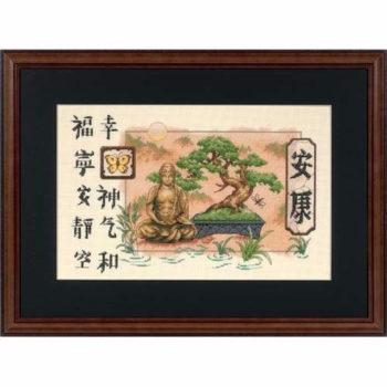 """35085 • Набор для вышивания крестом """"Бонсай и Будда"""" • """"Bonsai and Buddha"""" DIMENSIONS"""
