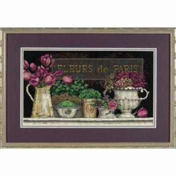 """35093 • Набор для вышивания крестом """"Цветы Парижа"""" • """"Fleurs de Paris"""" DIMENSIONS"""