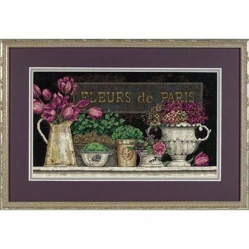 35093 Набор для вышивки крестом «Цветы Парижа» • «Fleurs de Paris» DIMENSIONS