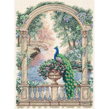"""35110 • Набор для вышивания крестом """"Величественный павлин"""" • """"Majestic Peacock"""" DIMENSIONS Gold Collection"""